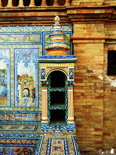 Plaza de España, Sevilla|Spain   submitted and taken by http://karenlaran.tumblr.com