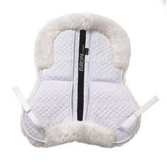 """Features 2 sets of shims- thicker Memory Foam, and thinner Felt to achieve that perfect fit! Plush premium sheepskin is used to make the Ovation Europa Sheepskin pads comfortable and luxurious. <br /> <br />Regular size fits saddles 16 1/2"""" - 17"""". <br />Large size fits saddles 17 1/2"""" - 18""""."""