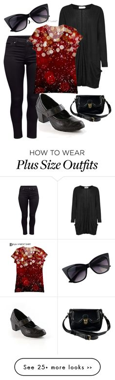 """Plus Size Casual Style Black"" by cyndi1966 on Polyvore"