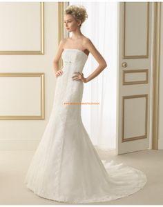 Elegante trägerlose Meerjungfrau Brautkleider aus Softnetz 175 EVITA   luna novias 2014