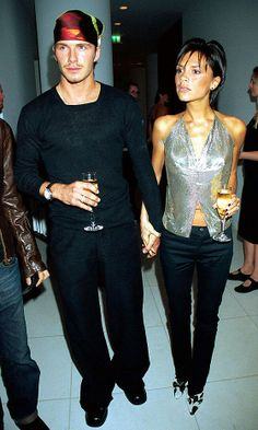Victoria Beckham And David Beckham At A Party Hosted By Jade Jagger, 1999