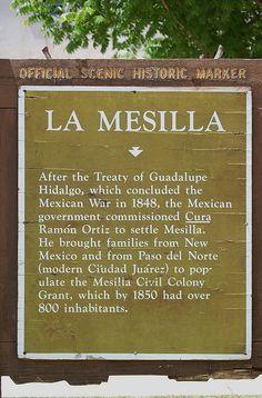 La Mesilla, New Mexico, Historic Marker