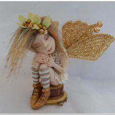 Willa Thoughtful Woodland OOAK Fairy Fairies Art Doll Figurine NEW Polymer Clay #Handmade
