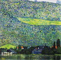"""Unterach on Lake Attersee"" in 1915 by Gustav Klimt."