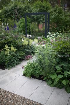 Garden designed by Nordfjell Landscape Architecture, modern arbor.