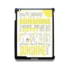 You Are My Sun Shine Lyric Art TATUM-12156 Apple Phonecase Cover For Ipad 2/3/4, Ipad Mini 2/3/4, Ipad Air, Ipad Air 2