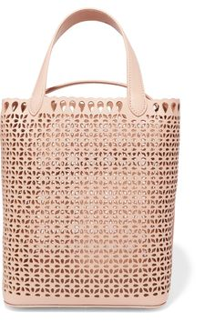 Alaïa | Laser-cut leather bucket bag | NET-A-PORTER.COM