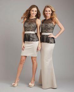 Discount Elegant Sleeveless Long Lace Bodice Bridesmaid Dress Free Measurement