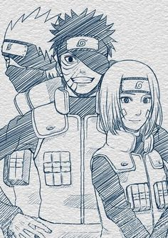 What could have been...Kakashi, Obito, and Rin from Naruto