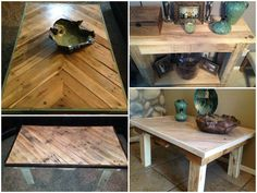 Worth Every Penny, Reclaimed Pallet Furniture #CoffeeTable, #PalletFurniture, #PalletTable, #RepurposedPallet, #SideTable