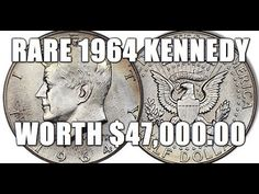 I show you how to identify this rare 1964 Kennedy Half worth thousands! Old Coins Value, Rare Pennies, Old Coins Worth Money, Valuable Coins, American Coins, Kennedy Half Dollar, Error Coins, Coin Worth, Coin Values