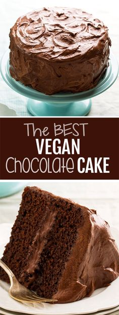 The Best Vegan Chocolate Cake Recipe Das beste vegane Schokoladenkuchenrezept Vegan Yellow Cake, Yellow Cake Recipe Easy, Basic Cake Recipe With Oil, Healthy White Cake Recipe, Best Vegan Cake Recipe, Dog Cake Recipes, Brownie Recipes, Dessert Recipes, Cake Recipes Without Eggs