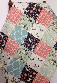 Woodland Baby Quilt Girl Fawn Deer Quilt Woodland by CoolSpool