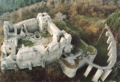 Ruins of the Neamt fortress, abandoned in Romania