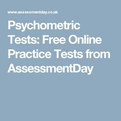 Psychometric Tests: Free Online Practice Tests from AssessmentDay