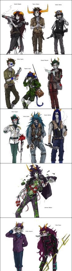 Trolls warrior style. I like it ((Gamzee tho XD he's crazy and that's why i love him))