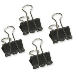 Acme United Sure-Grip Triangular Fold Back Binder Clips - 12 Pack - Black Binder Clips, Cave, Audi, Stationery, Stuff To Buy, Future, Business, Places, Recipes