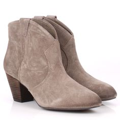 Ash Jalouse Taupe Suede Ankle Boot