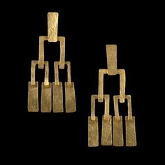 Hervé Van der Straeten Rectangular Geometric Drop Earrings