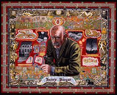 Joe Coleman - portrait of Henry Darger