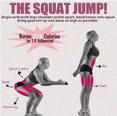 Burn 210 calories with squat jump !!