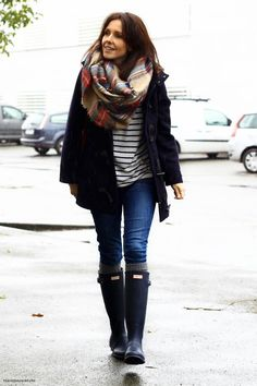 Hunter boots look