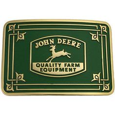 John Deere Belt Buckle with Historical Logo - www.greentoysandmore.com