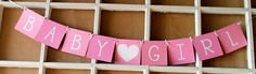 Baby Girl Banner for Baby Showers, Welcome Home Baby
