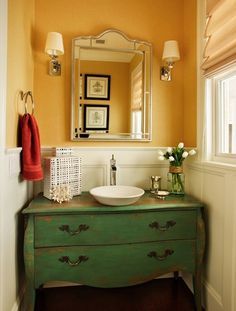 repurposed sink vanity http://stagetecture.com/2013/03/guest-blogger-the-re-purposing-trend-in-furniture-decor/#sthash.yNKVcC5X.GqvNF2Vu.dpbs
