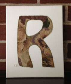 Initial R #1 Fabric Wall Art by CottonwoodCove on Etsy