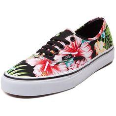 46e1fc40b0 Vans Authentic Hawaiian Floral Skate Shoe (1