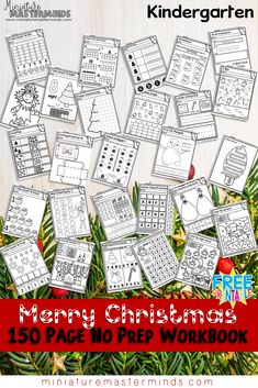 150 Page No Prep Kindergarten Worksheet Book Free Download Our Christmas No Prep Kindergarten pack is out! I kinda wanted to wait on it for a little while but I didn't know when I would have …