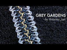 This is a hooked design. No loom needed. *Zuzu* GREY GARDENS bracelet tutorial