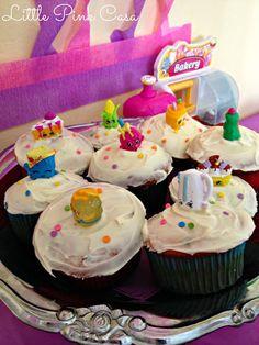 Shopkins cupcakes for a  Shopkins Birthday Party on a Budget! #Shopkins #ShopkinsBirthdayParty