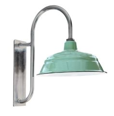 """Goodrich™ Husky 17"""" Porcelain Gooseneck Light, Barnlight Electric.  Just lovely!"""