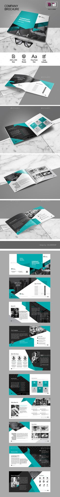Company Profile Square Brochure Template InDesign INDD