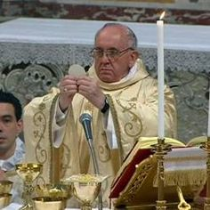 Pope Francis' first Mass as pope.