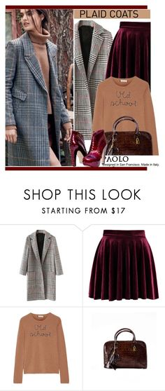 """Pattern Mix: Plaid Coats and PaoloShoes"" by paoloshoes ❤ liked on Polyvore featuring WithChic, Lingua Franca and Handle"