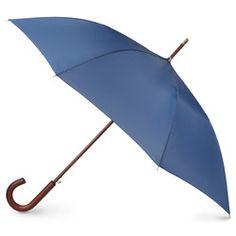 totes Blue Line Auto Wooden Stick Umbrella - Stick - Umbrellas - totes Totes Umbrella, Blue Umbrella, Folding Umbrella, Rain Umbrella, Sun Parasol, Rainy Day Fashion, Metal Panels, Blue Line, Autos