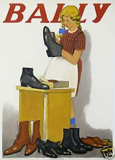 EMIL CARDINAUX AFFICHE ANCIENNE CHAUSSURES  BALLY  ci 1920-25