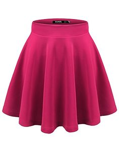 TWINTH Skater Skirt Plus Size for women Basic Versatile Stetchy Flared skirts at Amazon Women's Clothing store:
