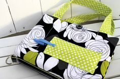 Custom order bible case - love, love, love this modern rose print fabric