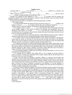 Printable Sample Safety Deposit Envelope Contract Form  Generic