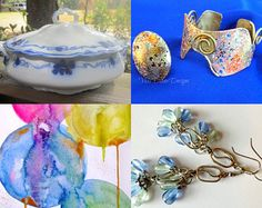 Blue Yellow Beauties! by Dr. Erika Muller on Etsy--Pinned with TreasuryPin.com