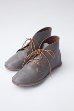 1fc54e42ac9e97 Image of Leona boots in Matte Grey Minimal Shoes