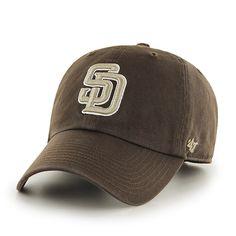6a31ea33b0275 San Diego Padres Clean Up Alternate 2 47 Brand Adjustable Hat