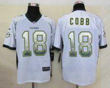 Green Bay Packers #18 Randall Cobb Drift Fashion White Elit