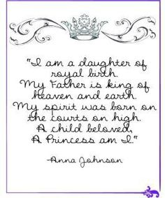 Daughter of the King <3 Would be great to hang in my daughter's bedroom.