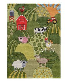 Look at this #zulilyfind! Grass Farmhouse Rug #zulilyfinds