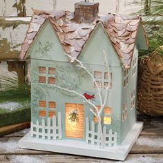 frosty winter home - so cute.  I want to make this